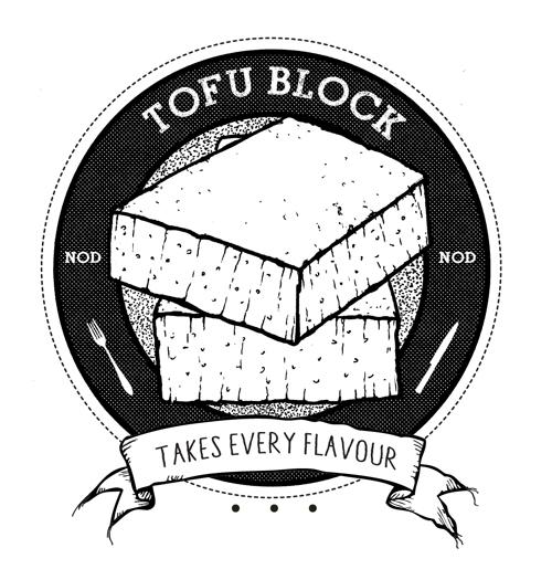 Tofu Block_simpel_block_raster_punkte_sw